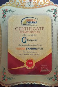 Indian Pharma Fair- Certificate of Participation